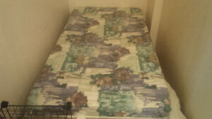single bed matress and bed frame included