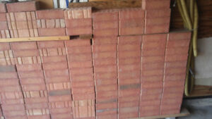New outdoor red bricks