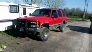 1999 Chevy Tahoe lifted .