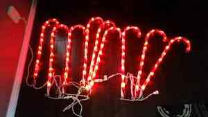 Outdoor Candy Cane Lights