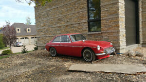 1969 MGB-GT. out of the barn after 15 years.
