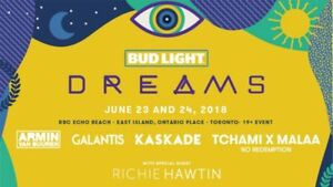 Pair of Bud Light Dreams 2-Day Weekend Wristbands $160 each