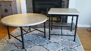 Ivory/Marble Coffee Tables