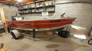 "Aluminum Fishing Boat - ""STAINLESS STEEL TRAILER"""