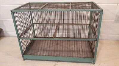 Ancienne cage d'oiseaux en bois vert paste l- Vintage Birdcage - Alte Vogelkäfig