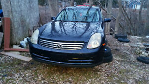 INFINITI G35X FULL PARTS CAR  GOOD ENGINE AND TRANSMISSION etc