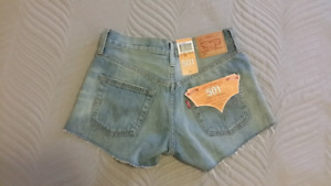Levis 501 Icons patch Cutoff Shorts Size 24