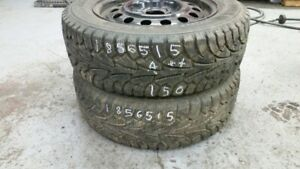 Pair of 2 Hankook Winter IPike (on rims) 185/65R15 WINTER tires