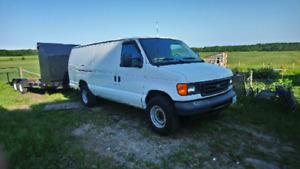2007 Ford E350 extended diesel cargo van