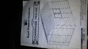 """Royal Outdoor Shed """"the Carriage House"""" 8x10 Kit"""