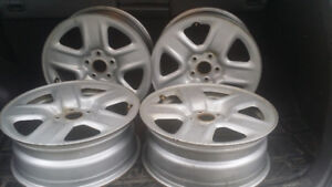 17in 5 x 114.3  Silver Steele Rims