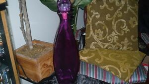 LARGE GORGEOUS UNIQUE PURPLE GLASS BOTTLE FOR SALE Kitchener / Waterloo Kitchener Area image 1