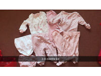 3-6 months girl pjs and knickers