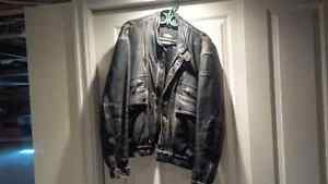 Hein Gericke Leather Cuir Jacket Manteau Size 50