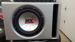 """12"""" MTX 9500 Sub and Clarion DPX1800 800w Amp"""
