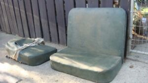 Old spring board boat seats