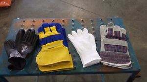 safety glass, multiple types of gloves, and ear plugs/muffs