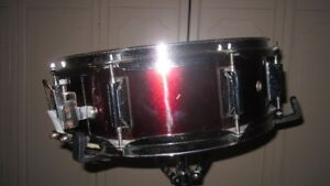 """5"""" X 14"""" Burgundy Wrap Snare Drum,New Snare Wires"""