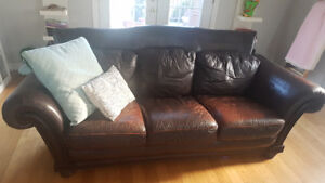Three piece sectional sofa, loveseat and chair