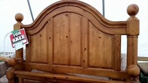 Queen wooden bed