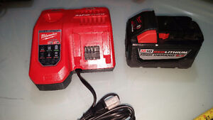Milwaukee M18 Lithium Ion 9.0Ah High Demand Battery and Rapid Ch
