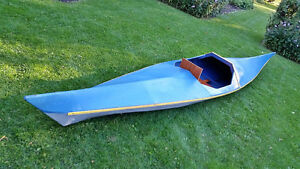 1974 Handcrafted 16' Kayak - wood and canvas construction-