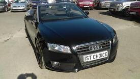 2010 AUDI A5 TFSI CONVERTIBLE REAL EYEFUL WITH SMOKED REAR LIGHTS BLACK