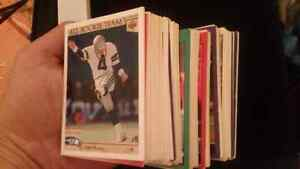 Big Stack Of Football Cards