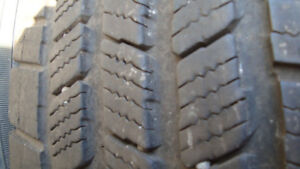 four michelin lt 245 75 16 10 ply winters on 6 bolt gmc rims