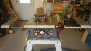 """Like new Heavy Duty Craftsman 10"""" Table Saw on roller stand"""