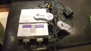 Nintendo Super NES console and various Games
