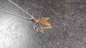 Stainless Steel Maple Leaf Necklace Kingston Kingston Area image 4