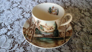 CUP AND SAUCER, DREAM TOWN, JOHNSON BROS. ENGLAND