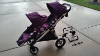 City Select Double Stroller /w all attachments - Great Condition