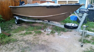 16 foot aluminum fishing boat with Warranty