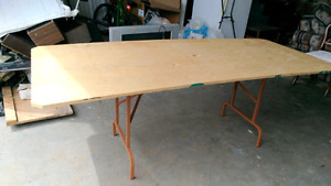 7 Foot x 3 Foot Plywood Table
