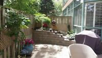 beautiful condo in downtown Burlington with PRIVATE BACKYARD