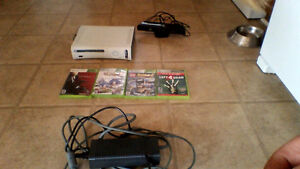 xbox 360 console with games ,connect $100 obo plus kinect $40.00
