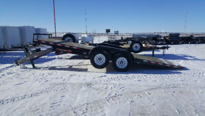 TAX IN!New H&H 20' Hydraulic tilt flatbed low deck equip trailer