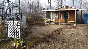 Cabin on leased lot for sale