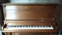 UPRIGHT GRAND CANADIAN-MADE PIANO W/STOOL