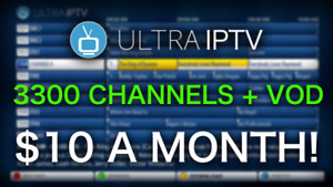 ULTRA IPTV | 3300 CHANNELS & VOD | $10 A MONTH! | NO FREEZING!
