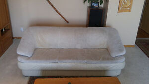Leather Sofa, Love Seat, Lazy Boy Chair Set,  Leather/ Suade Top