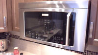 """2015 Electrolux 30"""" over the range  microwave/convection oven"""