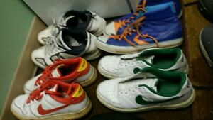 Retro shoes, 3 Nikes and 1 Converse