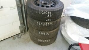 Set of 4 Yokohama Ice Guard iG20 (on rims) 185/65R14 WINTER tire