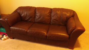 Leather Sofa and Love Seat pair Cambridge Kitchener Area image 1