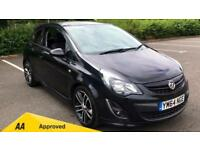 2015 Vauxhall Corsa 1.4T Black Edition 3dr Manual Petrol Hatchback