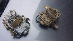 Two 650 holley carbs.