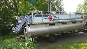 1993 21 foot pontoon sun tracker party barge for sale,